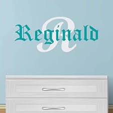 Amazon Com Boy S Custom Name And Initial Wall Decal Choose Your Own Name Initial And Letter Styles Multiple Sizes Boy S Custom Name And Initial Wall Decal Sticker Boy S Nursery Wall Decor Wall Decor