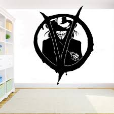 V For Vendetta Wall Decal Diy Vinyl Sticker Home Interior Design Room Bedroom Decor Movie Superhero Wall Art Removable Mural Entire Wall Decals Fairy Wall Decals From Joystickers 14 07 Dhgate Com