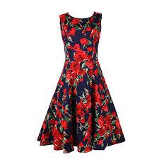 50s fl dresses plus size
