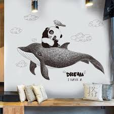 Mordern Life I Have A Dream Wall Stickers Home Decor Living Room Panda Whale Animal Wall Sticker Decals Kids Home Decoration Buy Wall Decal Buy Wall Decals From Daydaylife 29 67 Dhgate Com