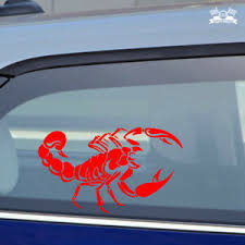 Scorpion Car Sticker Red Vinyl Decal Choose Size 5 8 10 20 Ebay