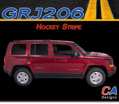 2007 2015 Jeep Patriot Hockey Vinyl Stripe Kit Moproauto Professional Vinyl Graphics And Striping