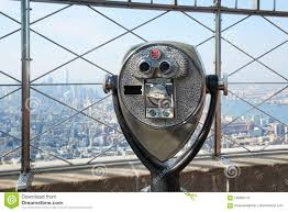 Empire State Building Observation Deck With Binocular In New York Editorial Photography Image Of Deck Sunlight 100005147