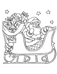Kleuren Nu Kerstman Op De Arreslee Kleurplaten