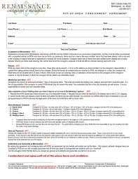 consignment agreement in word and pdf