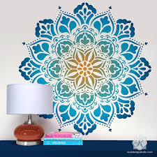 Large Mandala Wall Art Stencils For Painting Boho Bedroom Mural Design Royal Design Studio Stencils