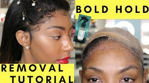 best lace glue bold hold removal