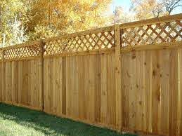 50 Awesome Wood Fence Designs And Ideas Images In 2020 Wood Fence Design Wood Privacy Fence Fence With Lattice Top