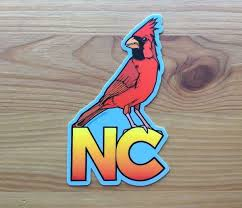Vinyl Sticker Nc Cardinal Gifted Boutique And Wrappery