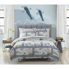 Kute Kids 3 Piece Construction Land Full Comforter Set M628627 The Home Depot