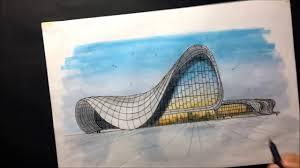 boceto arquitectonico heydar aliyev