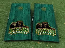 Product Baylor University Bears Fottball Team Cornhole Board Game Decal Vinyl Wraps With Laminated