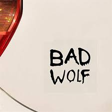 Amazon Com Na Tank Car Sticker Doctor Who Bad Wolf Window Car Truck Sticker Decal Funny White For Car Laptop Window Sticker Kitchen Dining