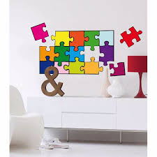 Puzzle Decals Wizard And Genius Wall Stickers