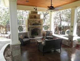 outdoor fireplace austin decks