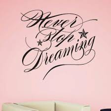 Zoomie Kids Akens Never Stop Dreaming Personalized Wall Decal Wayfair