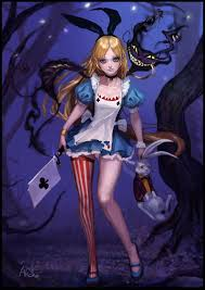 anime alice in wonderland hd wallpaper