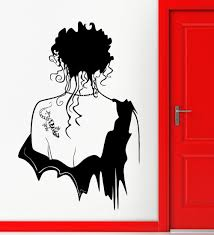 Modern Creative Home Decor Wall Stickers Vinyl Decal Hot Sexy Girl Gothic Beautiful Tattoo Decors Easy Removable Gw 107 Gothic Home Decor Olivia Decor Decor For Your Home And Office