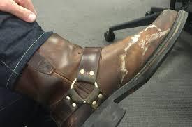 winter salt off your shoes