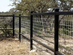 Image From Http Www Moellerranch Com Images Gallery Metal Rail Fences Square Tubing 01 Jpg Metal Fence Dog Fence Country Fences