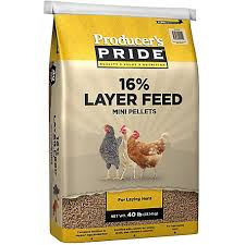 Producer S Pride 16 Mini Pellet Layer Chicken Feed 40 Lb 3005205 205 At Tractor Supply Co