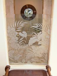 Butterflies Etched Carved Painted In Glass Windows Sans Soucie