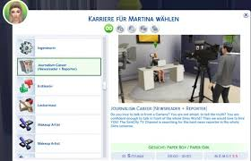mod the sims journalism career by