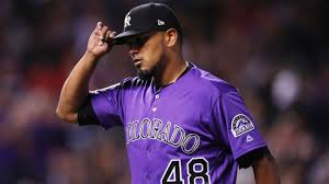 German Marquez, of Colorado Rockies, has 8 strikeouts to start game