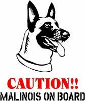 Chihuahua On Board Caution Dog Window Vinyl Decal Stickers Puppy Paw K9
