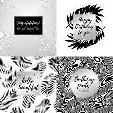 Feliz Cumpleanos Tipografia De Moda Carteles Tarjetas De