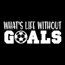 Amazon Com What S Life Without Goals Soccer Vinyl Decal Sticker Cars Trucks Vans Suvs Walls Cups Laptops 5 Inch White Kcd2709 Automotive