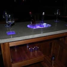 concrete party bar with led lights