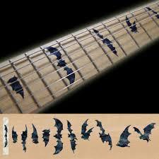 Fret Markers Inlay Sticker Decal Guitar Bass Neck Black Mop Bat Wings Hmcustom Online Shop