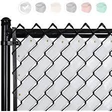 Amazon Com Ridged Slats Slat Depot Single Wall Bottom Locking Privacy Slat For 3 4 5 6 7 And 8 Chain Link Fence 4ft White Garden Outdoor