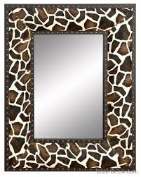 giraffe print mirror with images