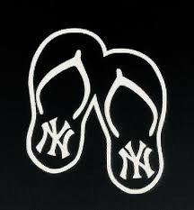 Ny Yankees Flip Flops Window Decal Ebay