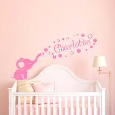 Personalized Girl Name Wall Decal Elephant Name Sticker Nursery Decor F61 Ebay