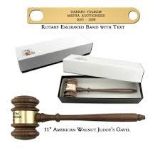 american walnut gavel with gift box