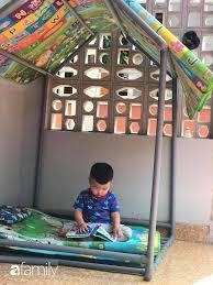 Bố Hà Nội tự làm cho con ngôi nhà bằng ống nước