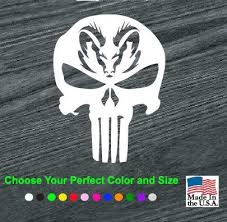 Dodge Ram Head Punisher Skull Truck Decal Sticker Aftermarket Replacement Non Factory Custom Sticker Shop