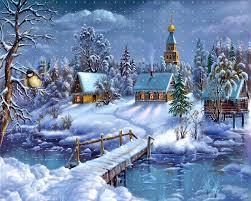 49 free animated snow scene wallpaper