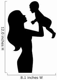 Mother Holding Baby Hands Wall Decal Wallmonkeys Com