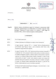 Nuova ordinanza del presidente della Regione, Christian Solinas ...