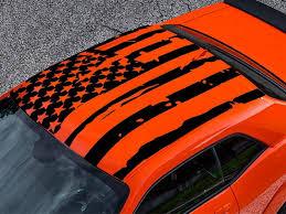 Roof American Flag Decal For Dodge Challenger Vinyl 2008 Present