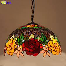 fumat stained glass pendant lights rose