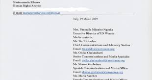 FREEDOM * DIGNITY * RESPECT: Immediate release of Iranian lawyers Narges  Mohammadi and Nasrin Sotoudeh. Letter sent to Mrs. Phumzile Mlambo-Ngcuka  (Executive Director of UN Women) - 19/03/2019