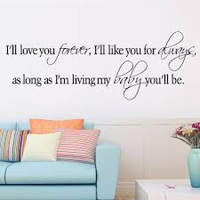 Love You Forever Like You Always As Long As I M Living My Baby You Ll Be Vinyl Wall Sticker Quotes Sayings Nursery Decor Decal Vinyl Wall Stickers Wall Stickerwall Sticker Quotes Aliexpress