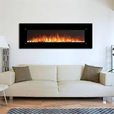 electric wall mounted fireplace black 80005
