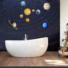 Amazon Com Cheerfullus Glow In The Dark Planet Wall Stickers 9 Planets Solar System Wall Decals Luminous Wall Sticker Art Wall Decor For Kids Bedroom Living Room Home Kitchen