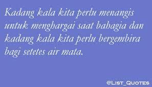quote of the day on kadang kala kita perlu menangis utk